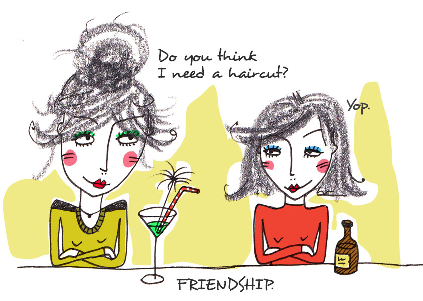 Illustration_Frauen_freundschaft_drink_bar